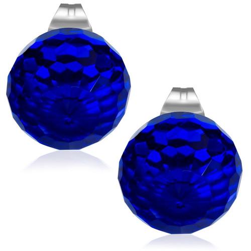 8mm – Modrá broušená skleněná kulička