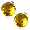 8mm – Tmavě žlutá broušená skleněná kulička