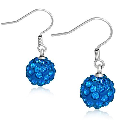 10mm – Modré kuličky s kamínky Sapphire, afroháček