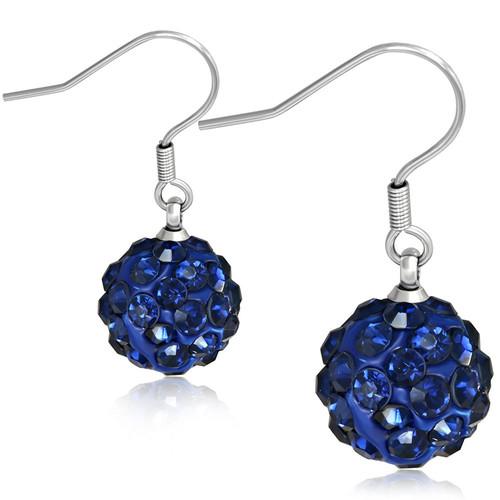 10mm – Tmavě modré kuličky s kamínky, afroháček