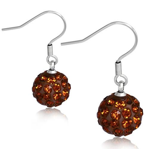 10mm – Tmavě oranžové kuličky s kamínky, afroháček
