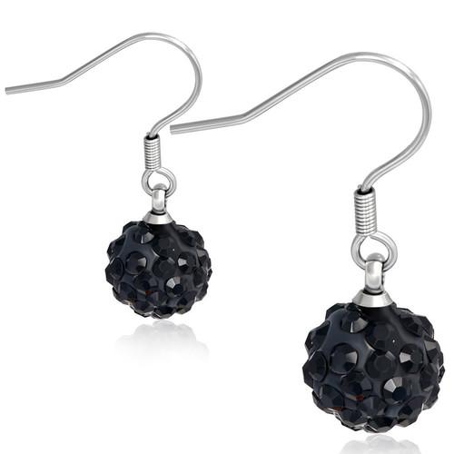 10mm – Černé kuličky s kamínky, afroháček