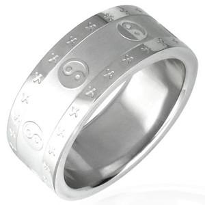 Ocelový prsten - PRB041BA
