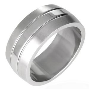 Ocelový prsten - ZRO016BA
