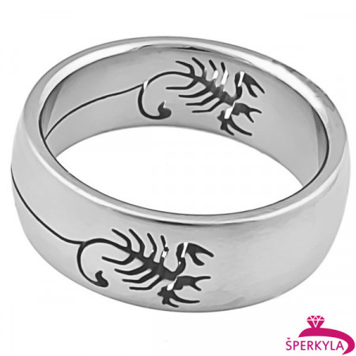 Ocelový prsten štír