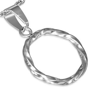 Ocelový přívěsek kroucený kruh