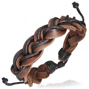 Pletený kožený náramek - FWL399BA