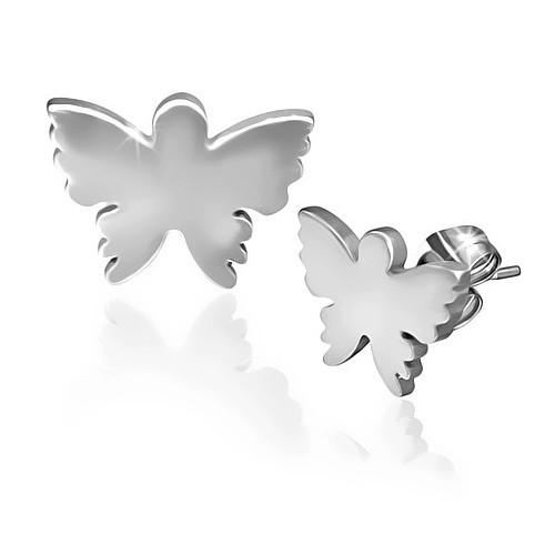 Ocelové náušnice malý motýlek