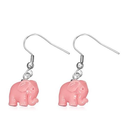 Růžový slon na afroháčku
