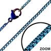 Ocelový řetízek, modré kostky