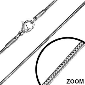Ocelový náhrdelník had