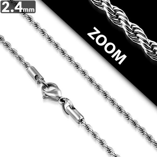 Ocelový řetízek - Pletené 2.4mm