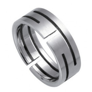 Ocelový prsten - RSSO327