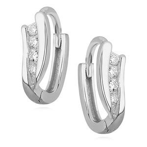 Náušnice - SNEAG0003 - Stříbro 925/1000 - Rhodium - Čirá