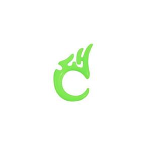 Piercing - zelený pyrex