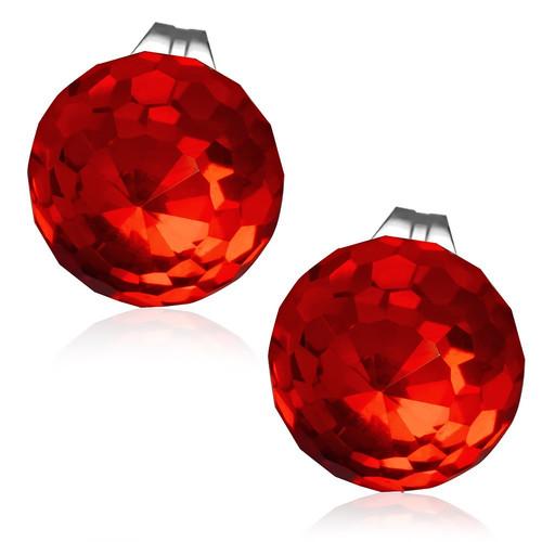 10mm – Červená broušená skleněná kulička