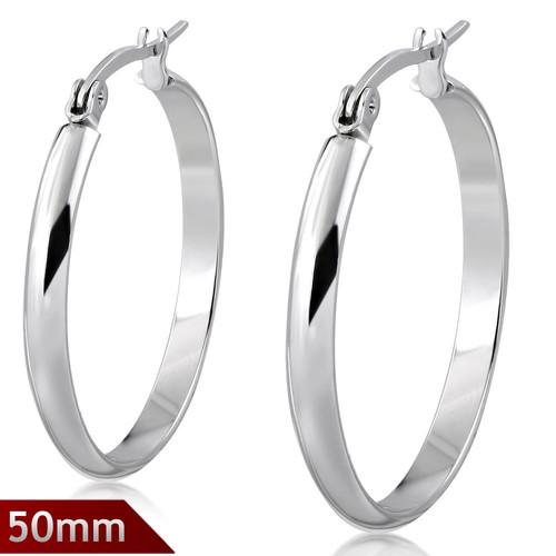 50mm – Kruhové náušnice