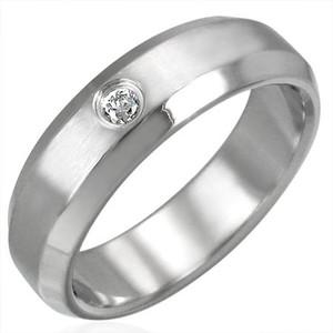 Ocelový prsten - TRM018BA
