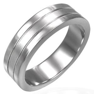 Ocelový prsten - ZRO029BA