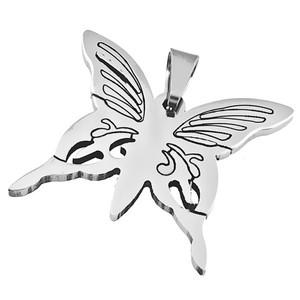 Ocelový přívěsek motýl