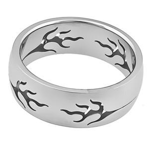 Ocelový prsten oheň