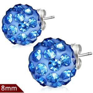 8mm – Modrá kulička s kamínky