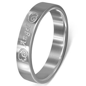 Ocelový prsten - LRC447BA - Velikost 47 (4)