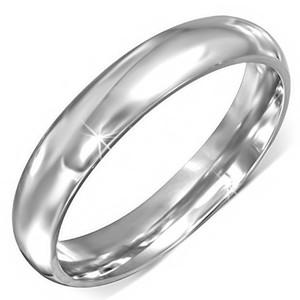 Lesklý zaoblený ocelový prsten