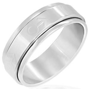 Ocelový prsten - PFX252BA - Velikost 61 (10)