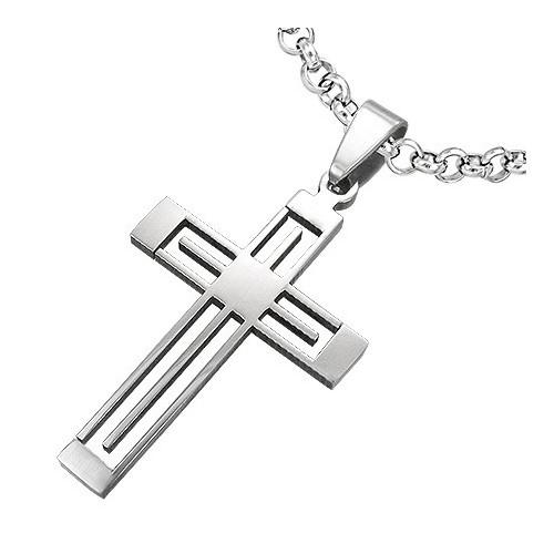Ocelový přívěsek – Křížek