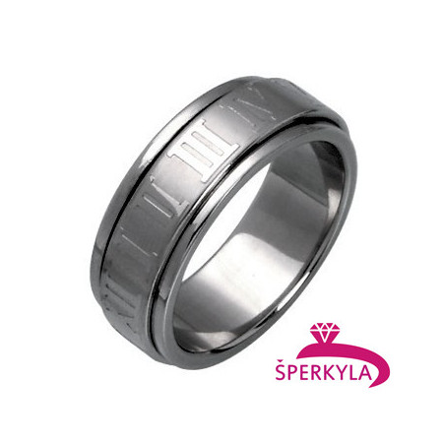 Ocelový prsten – otáčející se střed