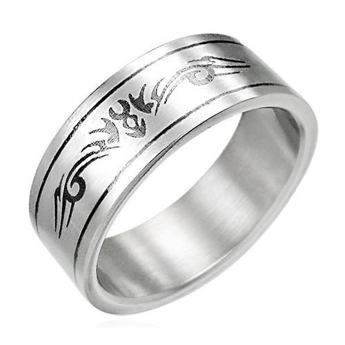 Ocelový prsten - PRB084BA