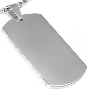 Prázdný ocelový přívěsek - známka